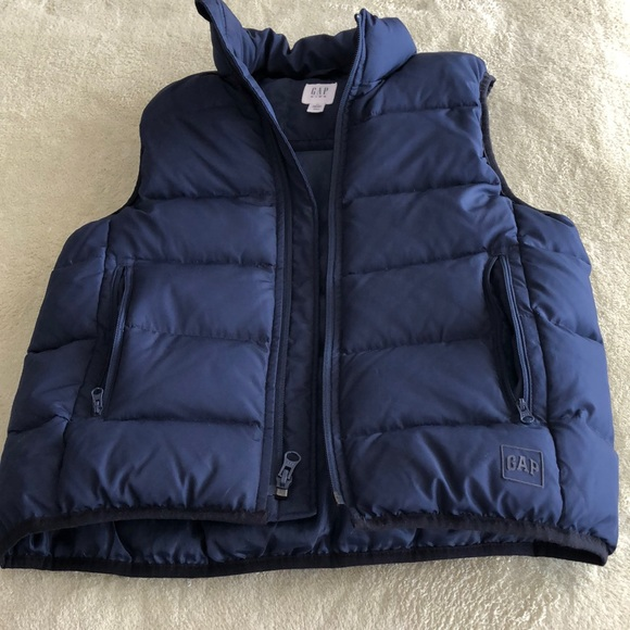 Warm vest for boys, 8-9 years, down/feather filled